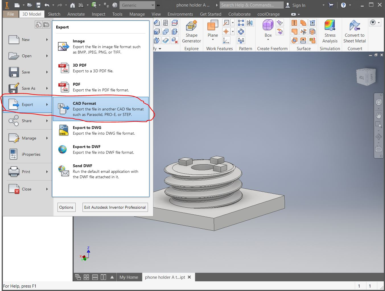 How to Export STL File from Inventor to Cura for 3D Printing